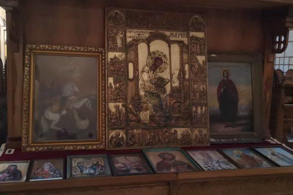 Εικόνα στο εσωτερικό του Ναού Αγίου Μάρκου