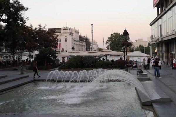 Συντριβάνι στο κέντρο της πόλης